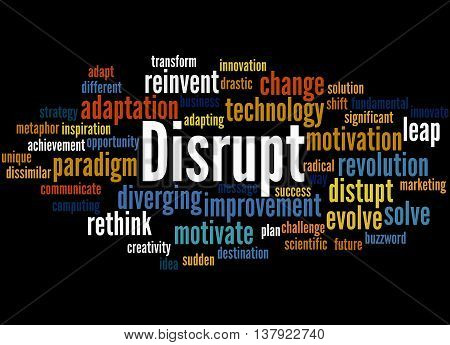 Disrupt, Word Cloud Concept 6