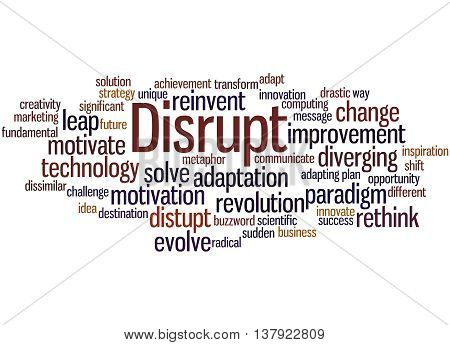 Disrupt, Word Cloud Concept 8