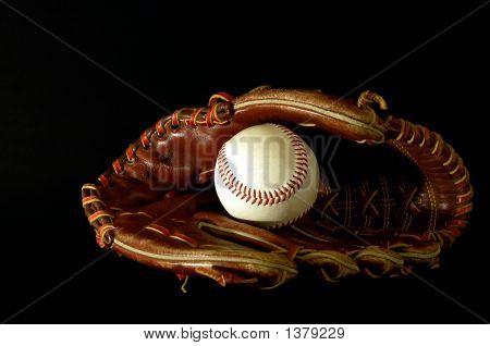 Baseball Glove In The Dark