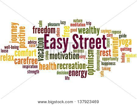 Easy Street, Word Cloud Concept 2