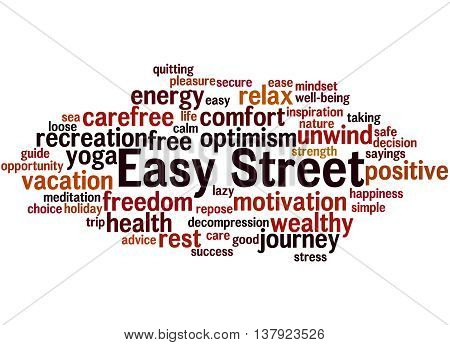 Easy Street, Word Cloud Concept 5