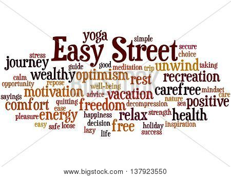 Easy Street, Word Cloud Concept 6