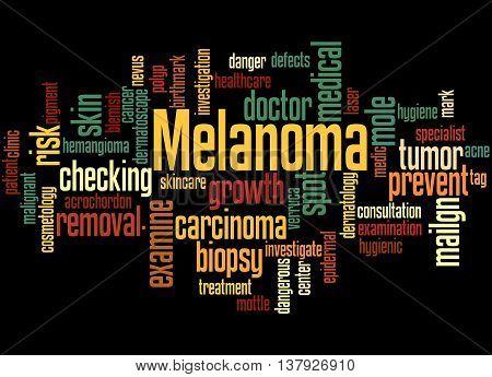 Melanoma, Word Cloud Concept 2