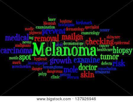 Melanoma, Word Cloud Concept 3