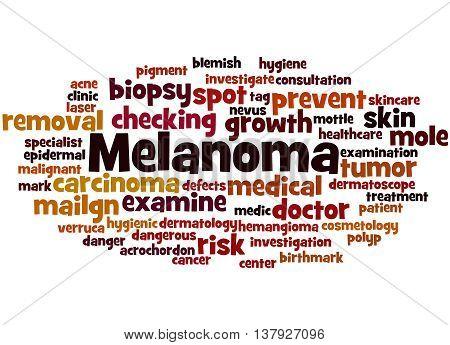 Melanoma, Word Cloud Concept 8