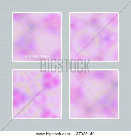 Bright blurred backgrounds set for design you can use a gift card cover book