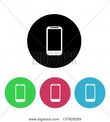 Smartphone colord Icon set on white background