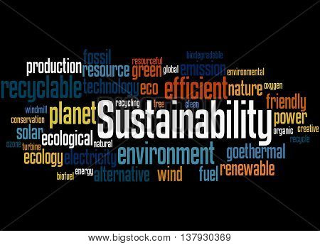Sustainability, Word Cloud Concept 7