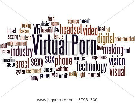Virtual Porn, Word Cloud Concept 3