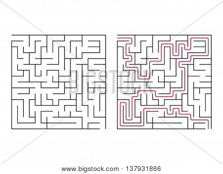 Vector labyrinth. Maze / Labyrinth with Entry and Exit.