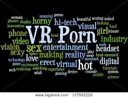 Vr Porn, Word Cloud Concept 4