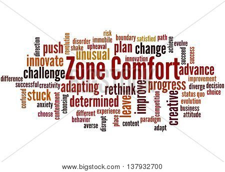 Zone Comfort, Word Cloud Concept 8