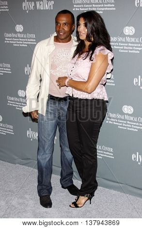 Bernadette Robi and Sugar Ray Leonard at the 4th Annual Pink Party held at the Hanger 8 in Santa Monica, USA on September 13, 2008.
