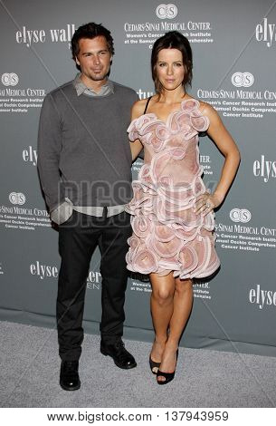 Len Wiseman and Kate Beckinsale at the 4th Annual Pink Party held at the Hanger 8 in Santa Monica, USA on September 13, 2008.