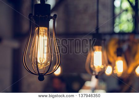 light lamp electricity hanging decorate home interior in christmas day