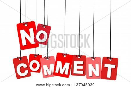 Vector colorful hanging cardboard. Tags - no comment on white background