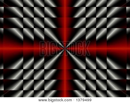 Silver & Red Metal Background - Abstract Illustration