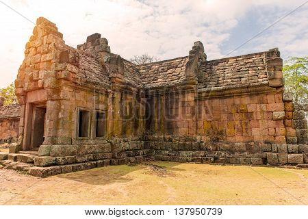 Stone Castle In Prasat Hin Phanom Rung Historical Park, Thailand