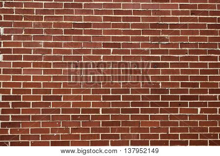 Old Red brick wall building exterior backdrtop