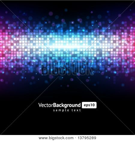 Abstract light mosaic vector background