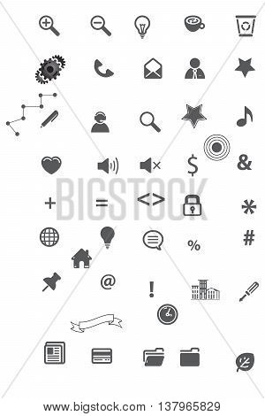Universal icon set computer icon symbol icon set business finance