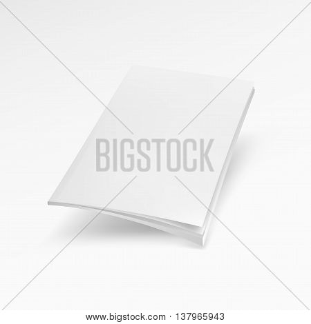 Blank Cover Of Magazine, Book, Booklet, Brochure. Mock Up Template Ready For Your Design Vector
