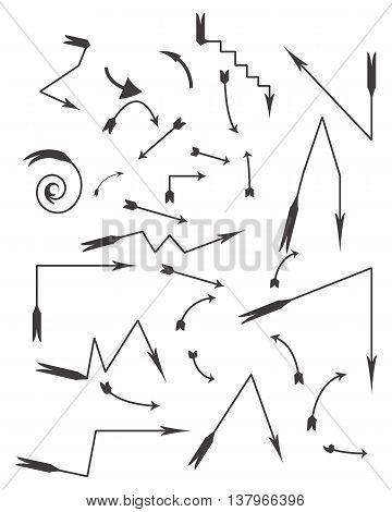 arrow bow and arrow arrow symbol curve symbol vector circle