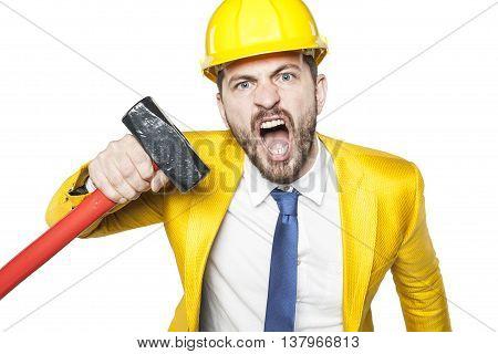 Angry Investor Threatens Big Hammer
