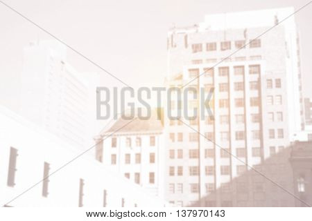 tall buildings with bright light
