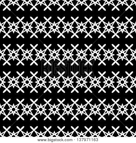 Stars geometric seamless pattern. Fashion graphic background design. Modern stylish abstract texture. Monochrome template for prints textiles wrapping wallpaper website Stock VECTOR illustration