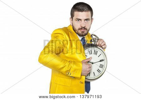 Young Businessman Trying To Steal A Little Time For Yourself