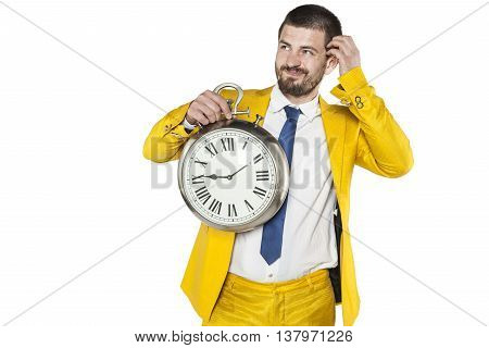 Businessman Looking Idea, But He Lacks The Time