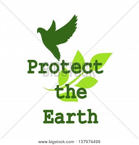 Banner on the protection and recovery of the Earth to join forces for the treatment and protection of animals and endangered species. It can be used on websites books printed materials
