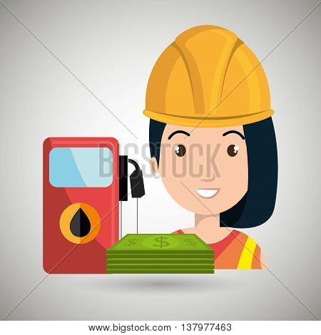woman and oil isolated icon design, vector illustration  graphic