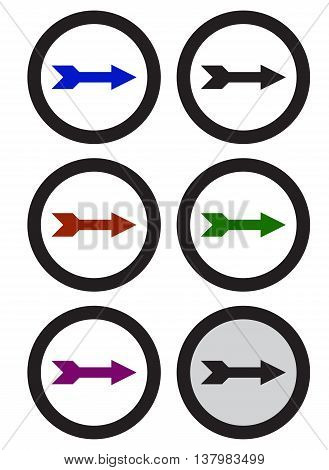 Set of black arrows arrow symbol expertise downloading leaving