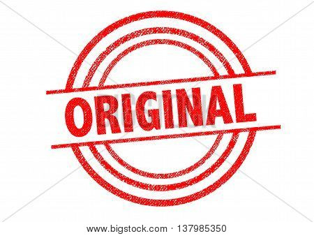 ORIGINAL Rubber Stamp over a white background.