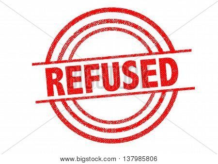 REFUSED Rubber Stamp over a white background.