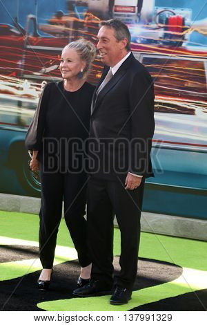LOS ANGELES - JUL 9:  Wife, Ivan Reitman at the Ghostbusters Premiere at the TCL Chinese Theater IMAX on July 9, 2016 in Los Angeles, CA