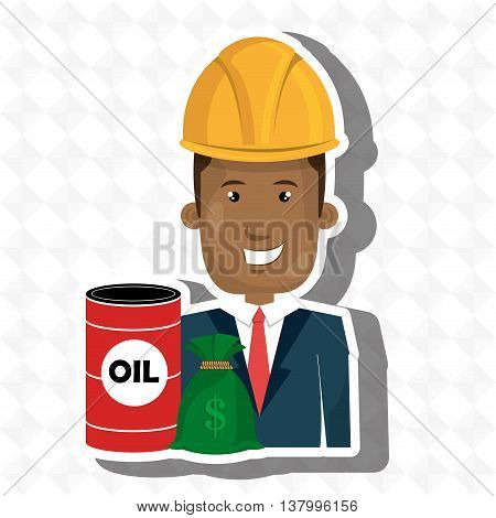 persons with barrel petrol isolated icon design, vector illustration  graphic