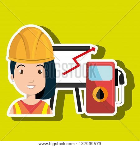 woman with gas isolated icon design, vector illustration  graphic