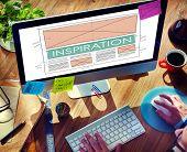 Inspiration Asperation Creative Imagination Dream Concept poster