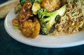 Buddhas delight vegetarian chinese food dish with fried bean curd poster