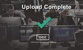Upload Complete Successful Downloading Finish Concept poster