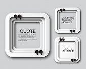 Origami Square Quote bubble. Applique Empty Citation text box template. Paper cut Quote blank. Vector design illustration. poster