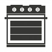 electric stove isolated icon design, vector illustration  graphic poster