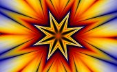 A Star and an explosion of colors. (generated from a fractal design) poster