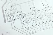 Wiring Diagram. Analog Electronic Schematic Diagram Closeup Photo. Electronic Design Project poster