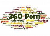 360 Porn word cloud concept on white background. poster