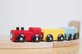 Close Up Of Toy Train