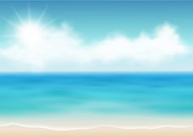Vector illustration of a summer day on the coast